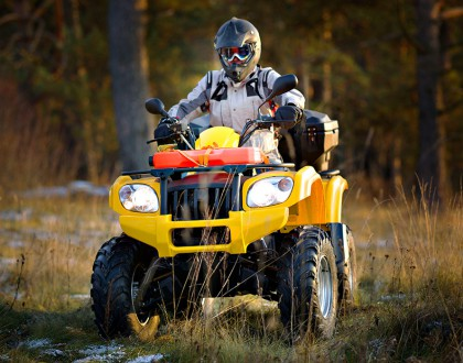 Be smart and safe when riding ATVs