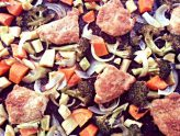 Sheet Pan Supper:  Kim's Parmesan Chicken with Roasted Vegetables