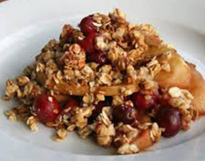 Kim's Holiday Favorites:  Cranberry-Apple Crisp