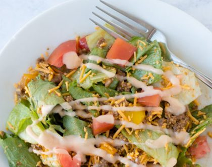 From Ashley's MacroEd Kitchen: Big Mac® Salad