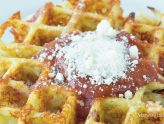 From Ashley's Macroed Kitchen: Pizza Waffle
